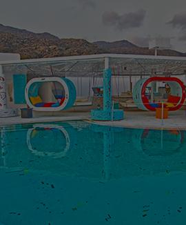 fresh pool Restaurant on Ios Island