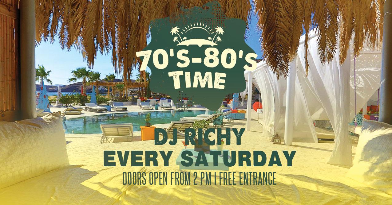 70's & 80's Saturdays in Ios - Freebeachbar Lounge Bar and